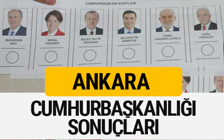 Ankara Cumhurbaşkanlığı seçim sonucu 2018 Ankara sonuçları