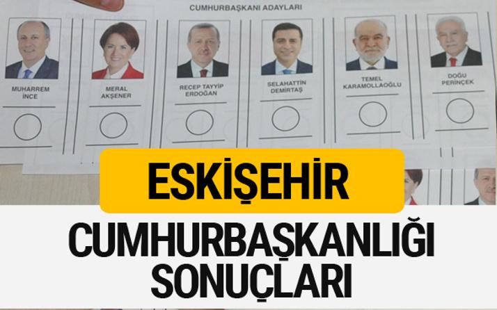 Eskişehir Cumhurbaşkanlığı seçim sonucu 2018 Eskişehir sonuçları