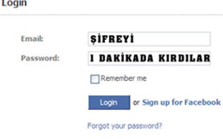 Facebook hesabı 1 dakikada kırıldı