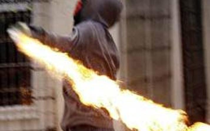 Beyoğlu'nda molotoflu saldırı