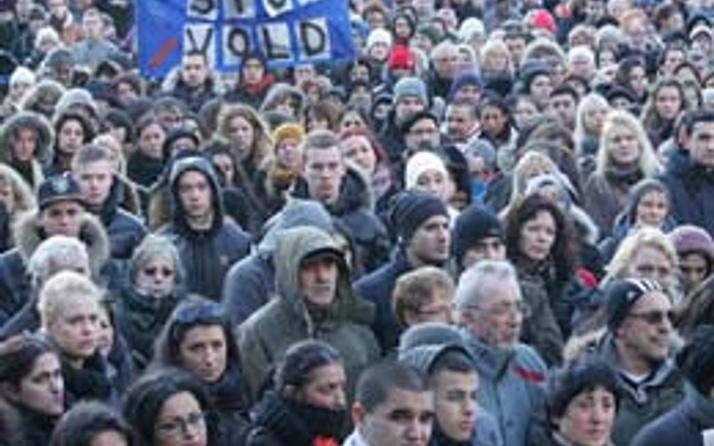 Kopenhag'da 2 bin kişi onun için toplandı