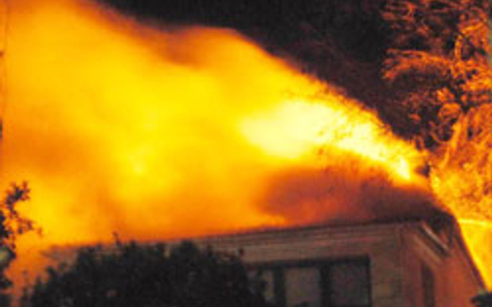 Antalyada Kaleiçinde yangın