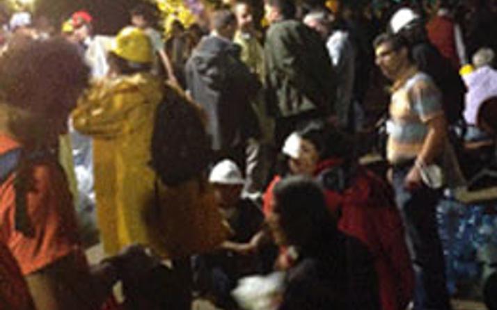 Gezi'de referandum tepkisi