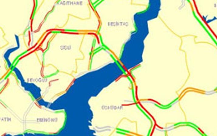 İstanbul'da yol durumu CANLI İZLE