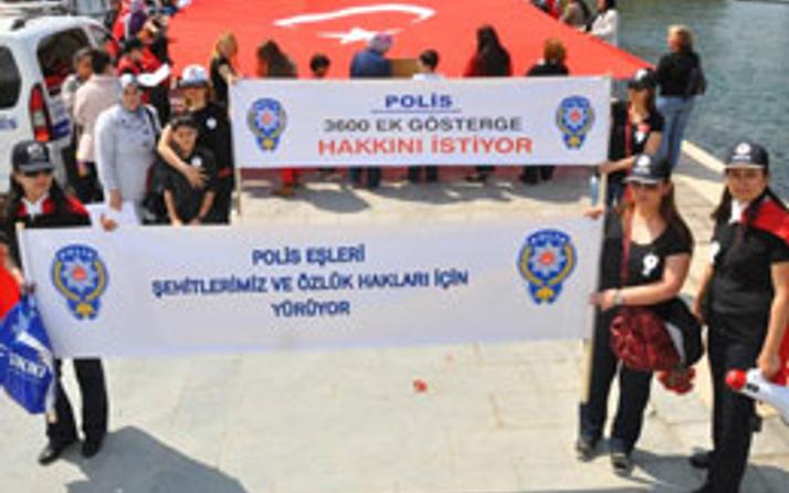 Polis eşleri eylem yaptı