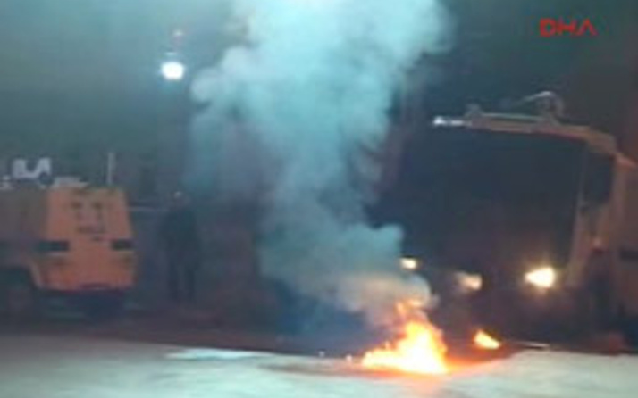 Cizre'de işyerine molotoflu saldırı