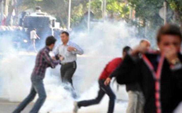 Soma'da sokaklara polis müdahalesi