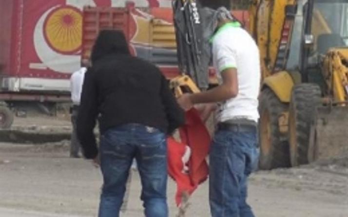 Türk bayrağını yakan genç tutuklandı