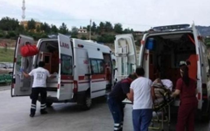 Balıkesir'de işçi servisi kaza yaptı!