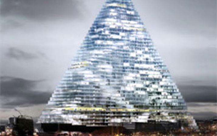 Parise piramit gökdelen