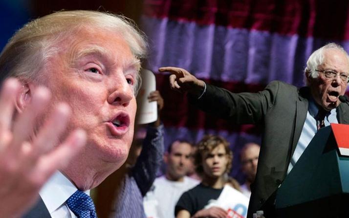 Trump ile Sanders arasında 'çılgın' tartışması