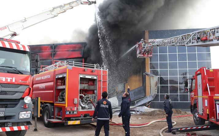 Aksaray'da sucuk fabrikasında korkutan yangın!