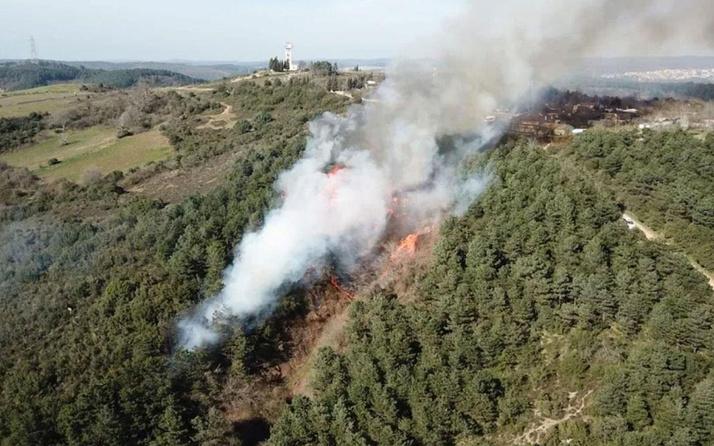 Sultangazi Cebeci köyünde yangın çıktı