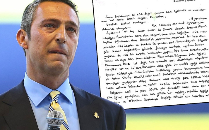 Ali Koç'u duygulandıran mektup