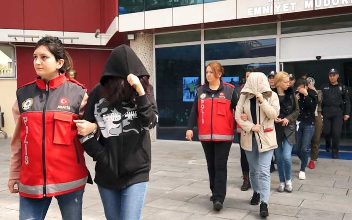Taksitli fuhuş operasyonunda 15 tutuklama