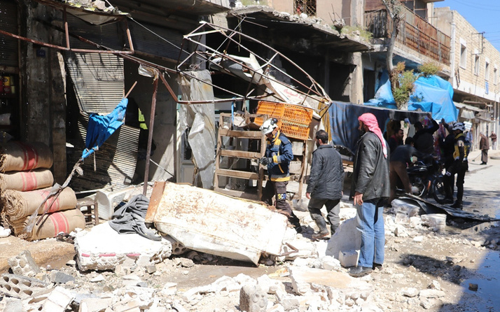 Esed rejiminden pazar yerine saldırı