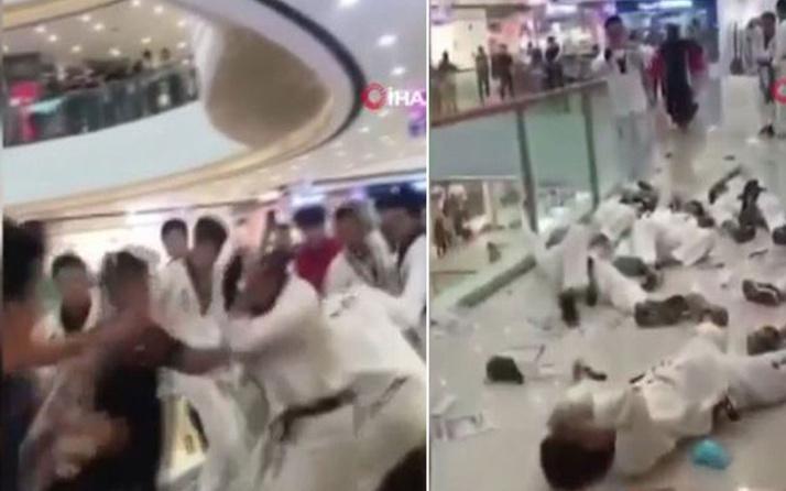 Sosyal medyada olay oldu! Mağaza çalışanları tekvandocuları dövdü