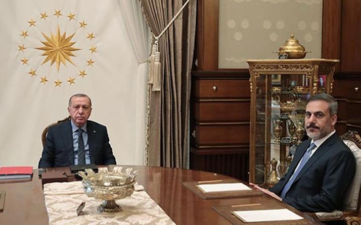 Erdoğan ile MİT Başkanı Fidan görüştü