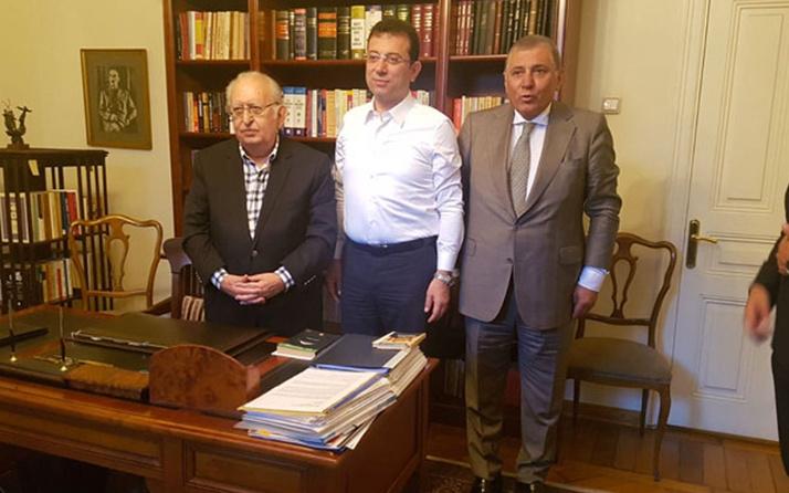 Ekrem İmamoğlu'ndan Hüsamettin Cindoruk'u sürpriz ziyaret