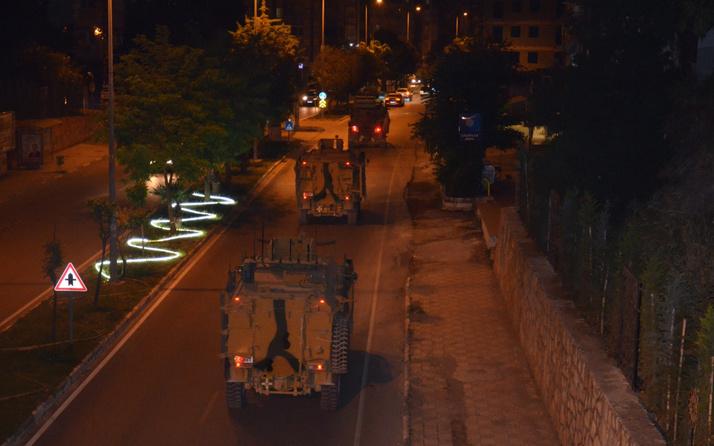 Suriye sınırına dikkat çeken askeri araç sevkiyatı