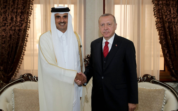 Cumhurbaşkanı  Erdoğan Katar Emiri Al Sani ile görüştü