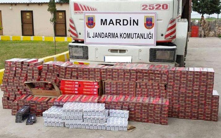 Mardin'de 20 bin 350 paket kaçak sigara ele geçirildi