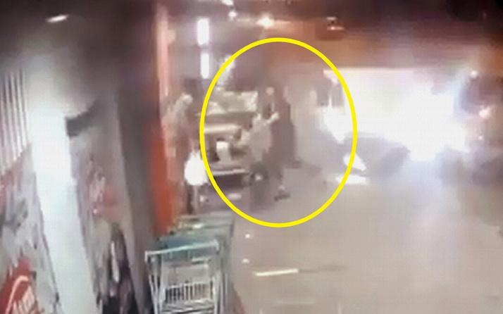 Adana'da genç kadın çocuğu son anda kurtardı
