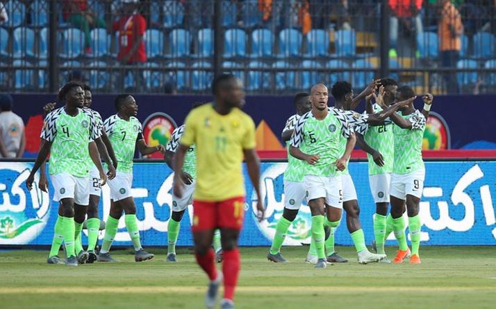 Kamerun'u deviren Nijerya çeyrek finalde