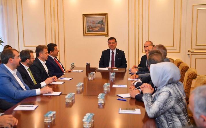 AK Partili belediye başkanları, Ekrem İmamoğlu'nu ziyaret etti