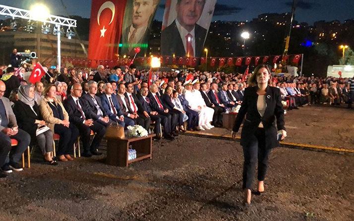 Erdoğan'ın sözleri sonrası Fatma Kaplan Hürriyet ve İYİ Partililer tören alanını terk etti