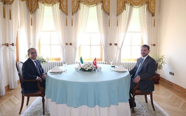 Hazine ve Maliye Bakanı Berat Albayrak, İtalya Ekonomi ve Finans Bakanı ile görüştü