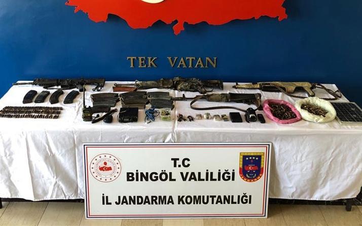 Bingöl'de 8 PKK'lı teröristin etkisiz hale getirildiği operasyonda ele geçirilenlere bakın