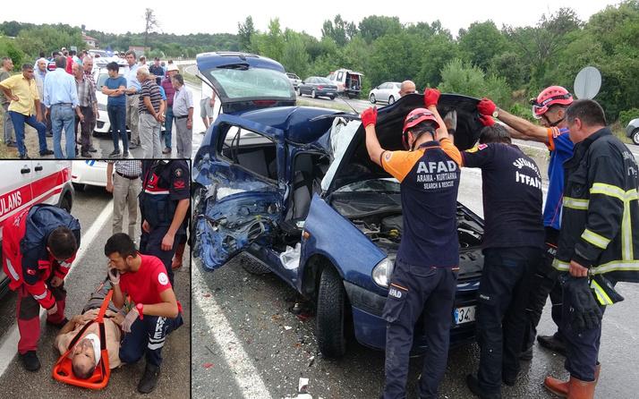 Karabük'te yaralılara yardım için duran minibüsüne otomobil çarptı: 1 ölü, 7 yaralı