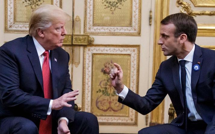 Donald Trump'tan Macron'a suçlama!