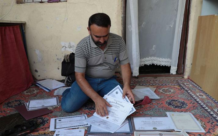 Diyarbakır'da 7 üniversite diploması olan vatandaş: Amacım cumhurbaşkanı olmaktı şimdi işsizim