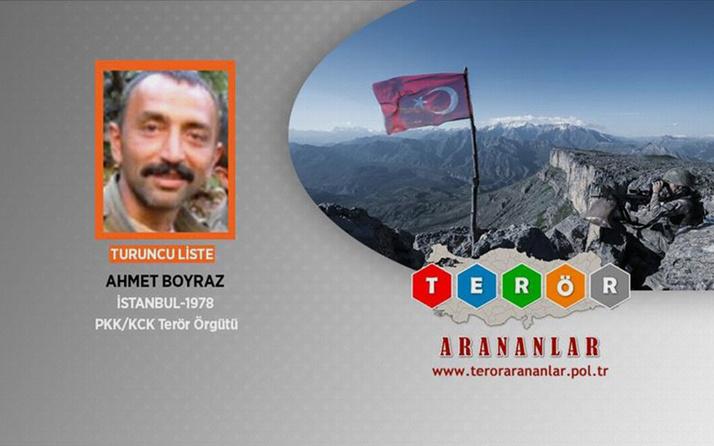 Turuncu kategorideki terörist Ahmet Boyraz etkisiz hale getirildi