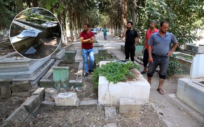 Tehlikeli provakasyonda 6 şüpheli gözaltında Reyhanlı'daki 100 mezarı yıkıp üzerlerine yazı yazdılar