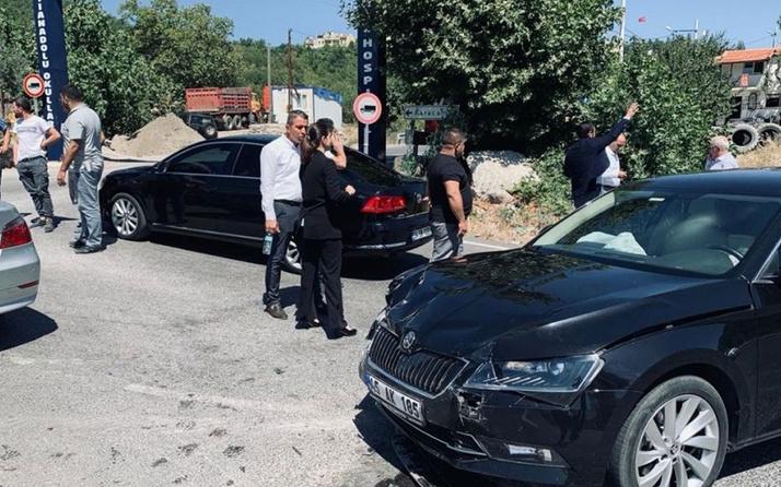 Milletvekillerinin bulunduğu konvoyda kaza