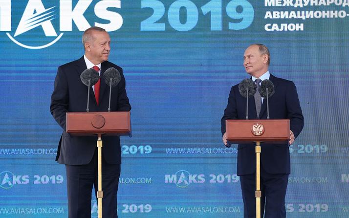 Erdoğan MAKS-2019 fuarında! Putin ile birlikte son dakika açıklamalar yaptı