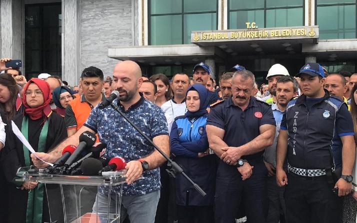 İşten çıkarılanlar İBB önünde toplandı Ekrem İmamoğlu'na çağrı yaptı