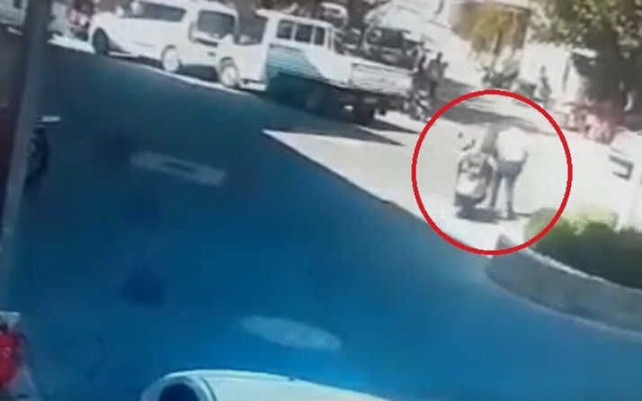 Çanakkale'de acemi sürücü motosikletle aynı yayaya iki kez çarptı