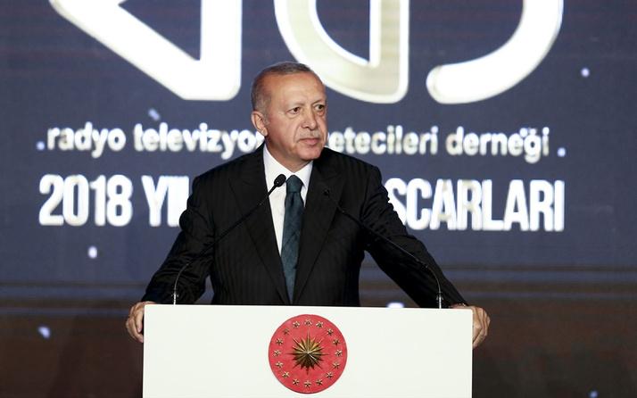 Erdoğan RTGD ödül gecesinde konuştu