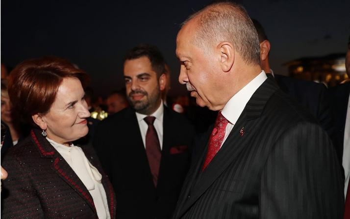 Erdoğan ve Akşener resepsiyonda ne konuştu? Yanındaki isim açıkladı