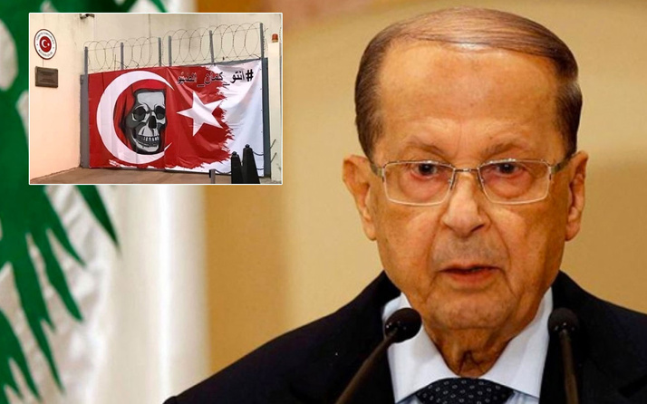 Cumhurbaşkanı küstah sözleri sonrası Lübnan'da Türk Büyükelçiliği'ne provakatif saldırı