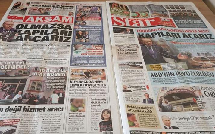 Medya tarihinde görülmemiş olay! Star Gazetesi'nin içinden Akşam'ın sayfaları çıktı