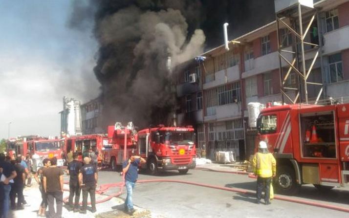 Başakşehir Organize Sanayi Bölgesi'nde korkutan yangın