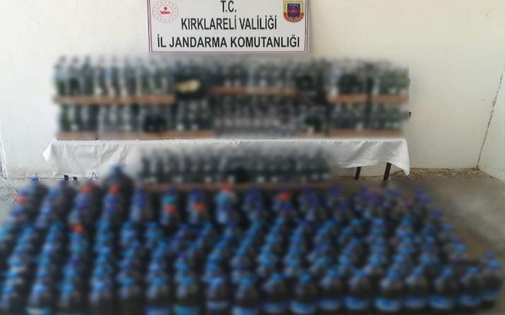 Kırklareli'nde evden çıkanlar jandarmayı şoke etti! Yüzlerce şişe...