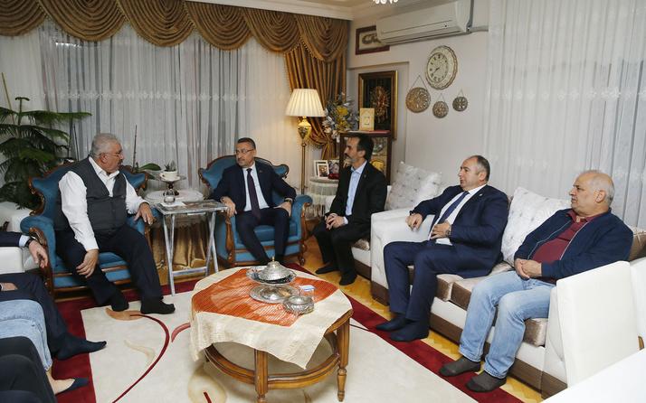 Cumhurbaşkanı Yardımcısı Fuat Oktay'dan Semih Yalçın'a taziye ziyareti