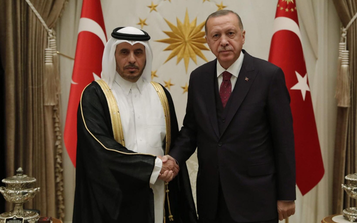 Cumhurbaşkanı Erdoğan Katar Başbakanı'nı kabul etti
