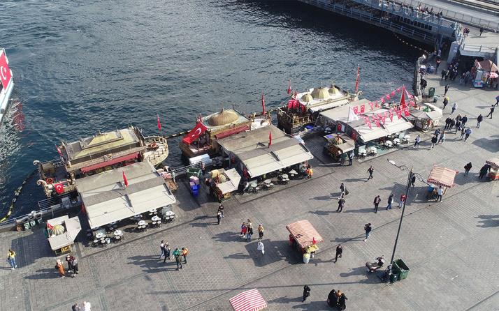 İBB Eminönü'ndeki balık ekmek satan işyerleri için harekete geçti!